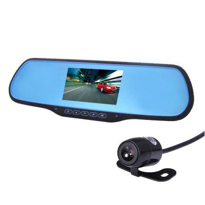 H-05 12 - 24V 170 Degree 1080P FHD Dual Lens Car DVR Rearview Mirror