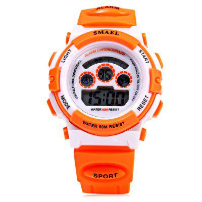 SMAEL 0704 Sports Girls Boys Digital Watch Candy ColorsSports Watches<br>SMAEL 0704 Sports Girls Boys Digital Watch Candy Colors<br><br>Available Color: Black,Blue,Green,Orange,Pink,Purple,Yellow<br>Band material: Rubber<br>Band size: 23.00 x 1.8 cm / 9.06 x 0.71 inches<br>Brand: SMAEL<br>Case material: PC<br>Clasp type: Pin buckle<br>Dial size: 3.50 x 1.50 cm / 1.38 x 0.59 inches<br>Display type: Digital<br>Movement type: Digital watch<br>Package Contents: 1 x Children Watch<br>Package size (L x W x H): 24.00 x 4.50 x 2.50 cm / 9.45 x 1.77 x 0.98 inches<br>Package weight: 0.067 kg<br>People: Children table<br>Product size (L x W x H): 23.00 x 3.50 x 1.50 cm / 9.06 x 1.38 x 0.59 inches<br>Product weight: 0.037 kg<br>Shape of the dial: Round<br>Special features: Alarm Clock, Date, Stopwatch, Light, Day<br>Watch style: Casual<br>Water resistance : 50 meters