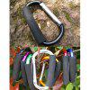 AOTU AT7607 Quick Release D - shaped Carabiner Buckle for Outdoor Camping Hiking - BLACK