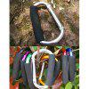 AOTU AT7607 Quick Release D - shaped Carabiner Buckle for Outdoor Camping Hiking - SILVER