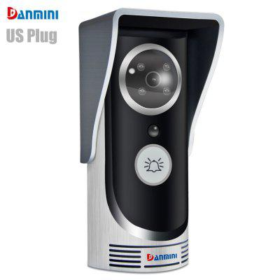 Danmini WiFi Door Bell Remote Control Video Unlock PIR Motion Detection