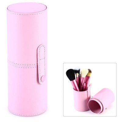Makeup Brushes Leather Storage Holder