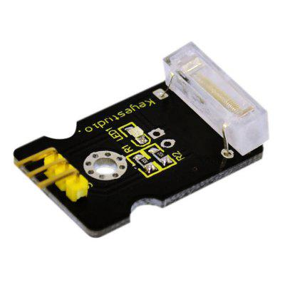 Keyestudio FR-4 Knock Sensor Module Compatible with ArduinoSensors<br>Keyestudio FR-4 Knock Sensor Module Compatible with Arduino<br><br>Brand: Keyestudio<br>Material: FR-4<br>Package Contents: 1 x Knock Sensor Module<br>Package Size(L x W x H): 16.00 x 16.00 x 2.00 cm / 6.30 x 6.30 x 0.79 inches<br>Package weight: 0.027 kg<br>Product Size(L x W x H): 3.50 x 2.00 x 0.90 cm / 1.38 x 0.79 x 0.35 inches<br>Product weight: 0.005 kg<br>Type: Tap Sensor Module