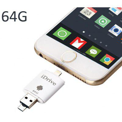 64GB 8Pin USB 3.0 iDrive iReader Flash Memory Drive
