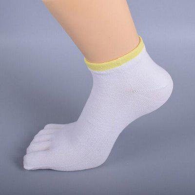 Men Five Toes Sports Deodorant Cotton Ankle Socks