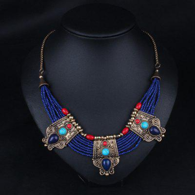 Ethnic Style Women Necklace Sweater Chain
