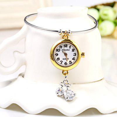 JUBAOLI 1105 Diamond Pendant Bracelet Female Quartz Watch