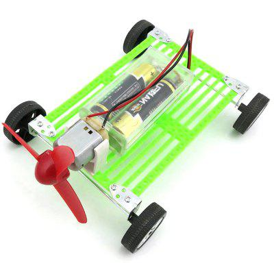DIY Wind Car Educational Handmade Toy Battery Operated