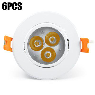 6pcs YouOKLight 3W 3000K 450Lm LED Ceiling Light Lamp