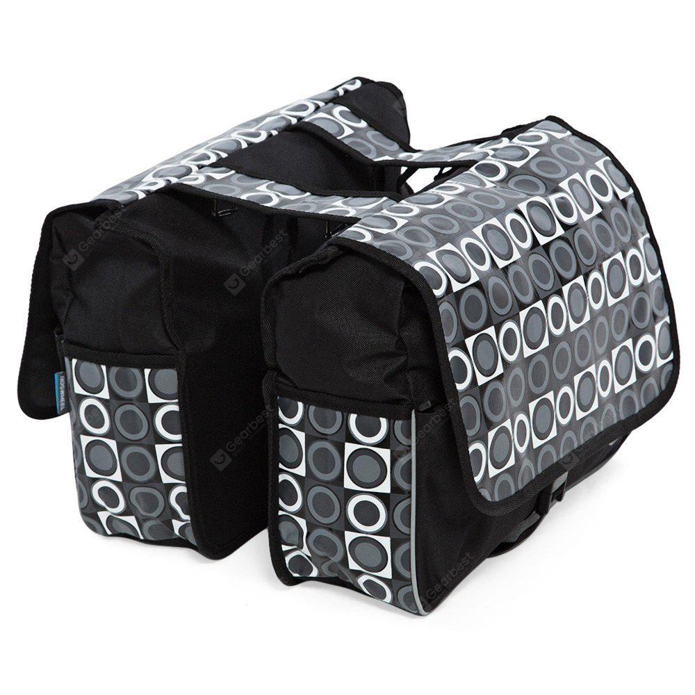 BLACK Roswheel Chic Circle Pattern Stickup Buckle Closure Mountain Bycicle Bilateral Storage Bag