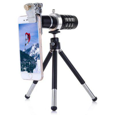 12x Optical Telescope Mobile Telephoto Lens with Tripod Kits