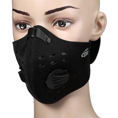 Outdoor Sports Anti-pollution Half Face Mask  -  BLACK