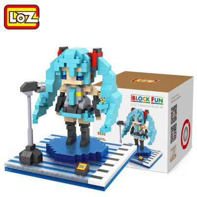 LOZ ABS 390Pcs Female Singer Shape Building Block Toy for Improving Social Cooperation Ability