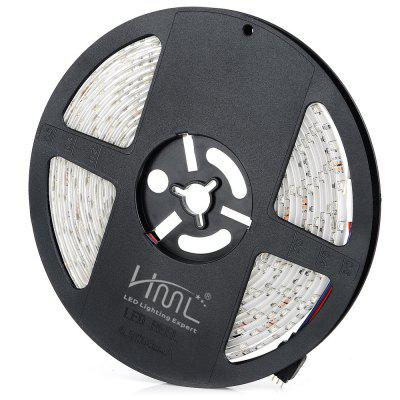 1PCS HML 24W 300 x SMD2835 / 5M Waterproof RGB LED Light StripLED Strips<br>1PCS HML 24W 300 x SMD2835 / 5M Waterproof RGB LED Light Strip<br><br>Actual Lumens: 2400Lm<br>Brand: HML<br>Chip Brand: Epistar<br>Connector Type: 4PIN<br>Features: Cuttable, IP-65, Low Power Consumption, Remote Control, Waterproof<br>Input Voltage: DC12<br>LED Type: SMD-2835<br>Material: FPC, Silicone<br>Number of LEDs: 300 x SMD2835 / 5M, 60 x SMD2835 / M<br>Optional Light Color: RGB<br>Package Contents: 1 x HML RGB LED Light Strip, 1 x Remote Controller, 1 x Controller Box<br>Package size (L x W x H): 16.00 x 16.00 x 5.00 cm / 6.3 x 6.3 x 1.97 inches<br>Package weight: 0.270 kg<br>Product size (L x W x H): 15.00 x 15.00 x 1.30 cm / 5.91 x 5.91 x 0.51 inches<br>Product weight: 0.200 kg<br>Rated Power (W): 24W<br>Type: LED Strip