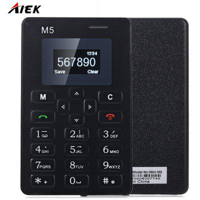 Lightest Weight 1.0 inch AIEK M5 Mini Unlocked Phone