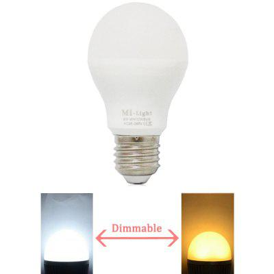 MiLight 2.4Ghz Wireless Dimming LED BulbSmart Lighting<br>MiLight 2.4Ghz Wireless Dimming LED Bulb<br><br>Available Light Color: Warm White,White<br>Brand: MiLight<br>Emitter Types: SMD 5730<br>Features: Long Life Expectancy, Energy Saving, Dimming, Remote Control<br>Function: Home Lighting, Studio and Exhibition Lighting, Commercial Lighting<br>Holder: E27<br>Luminous Flux: 510LM<br>Output Power: 6W<br>Package Contents: 1 x Milight LED Bulb<br>Package size (L x W x H): 11.70 x 6.80 x 6.80 cm / 4.61 x 2.68 x 2.68 inches<br>Package weight: 0.117 kg<br>Product size (L x W x H): 10.00 x 5.70 x 5.70 cm / 3.94 x 2.24 x 2.24 inches<br>Product weight: 0.074 kg<br>Sheathing Material: PC<br>Voltage (V): AC 86 - 265V