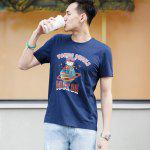 Original Xiaomi Rock Planet Short Sleeves T-shirt - BLUE