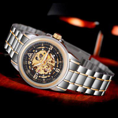 WOERDA Black Men Automatic Mechanical Watch