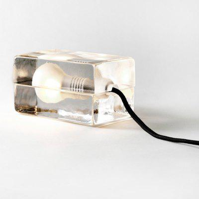 Glass Brick Bulb Lamp LED Night Light 220V