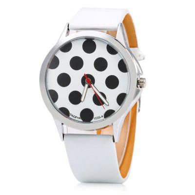 TAQIYA 1035-4 Casual Style Leather Band Lady Quartz Watch