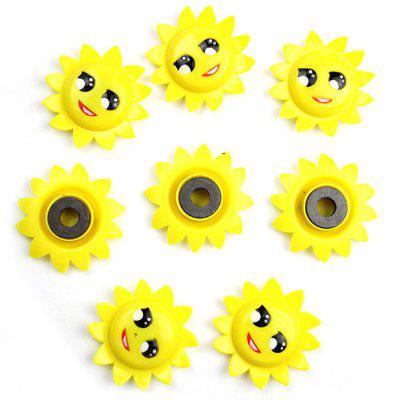 8PCS FUNI CT-337 Sunflower Type Fridge Magnet Stickers