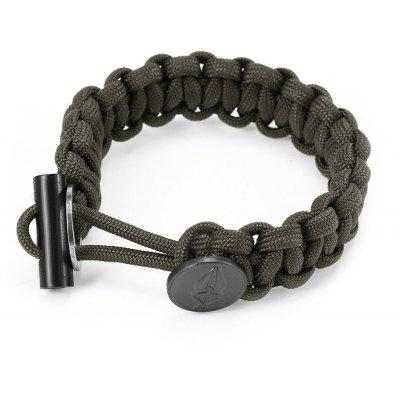 EDC Gear Survival Bracelet Rope with Scraper Buckle Flint Fire Starter