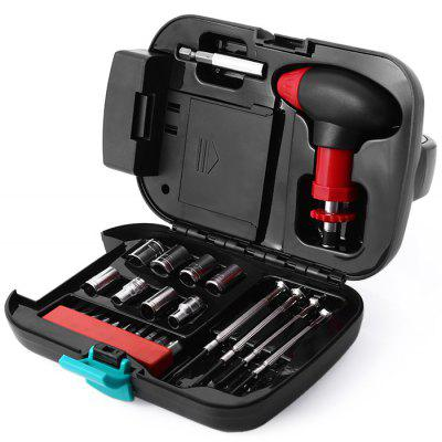 24 in 1 Hardware Tools Set with Light for Household