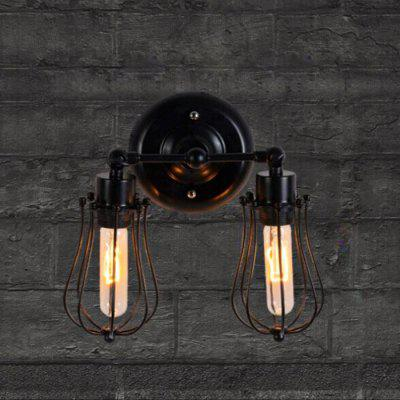 Antiqued Wire Cage Light Wall Sconce Loft Aisle Restaurant