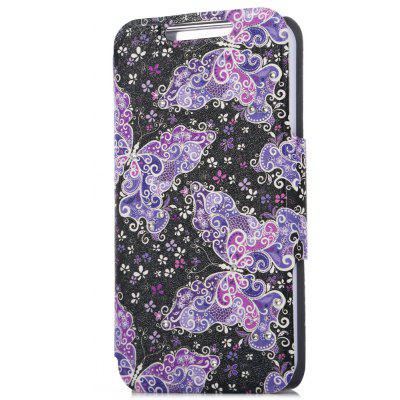 PU Leather Full Body Flip Case for iPhone SE / 5S / 5 Butterfly Pattern