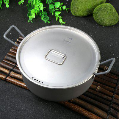 Keith Ti6015 1.8L Lightweight Titanium Pot for Camping