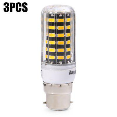 3 x BRELONG 1200Lm B22 12W SMD 5733 64 LED Corn Light