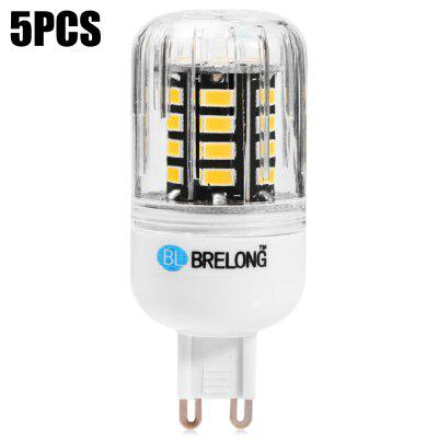 5pcs BRELONG 30 x SMD5733 G9 6W 600LM LED Corn Light