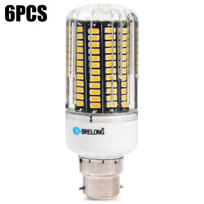 6 x BRELONG B22 2000Lm 20W SMD5733 136 LED Corn Bulb
