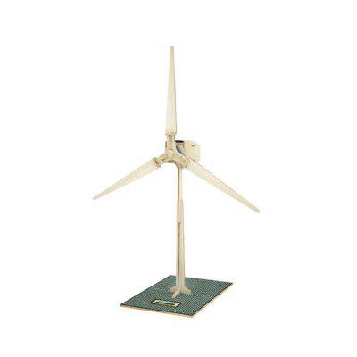 Solar Windmill W100 Jigsaw Puzzle Building Blocks Environmental DIY Toy