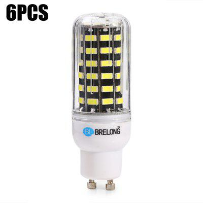 6 x BRELONG GU10 1200Lm 12W SMD5733 64 LED Corn Light