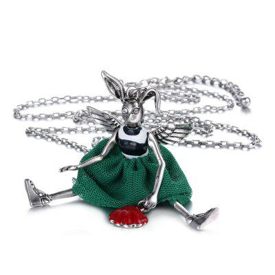 Original Cartoon Design Alloy Pendant Necklace for Ladies