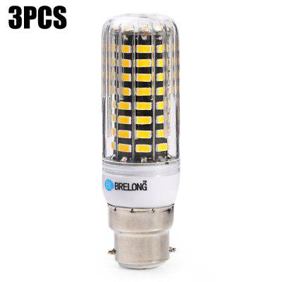 3 x BRELONG 1500Lm B22 15W SMD5733 80 LED Corn Bulb