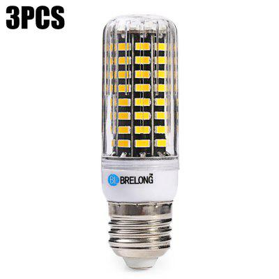 3 x BRELONG 1500Lm E27 15W SMD5733 80 LED Corn Bulb