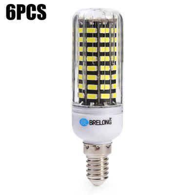 6pcs BRELONG E14 1500Lm 15W SMD5733 80 LED Corn Bulb