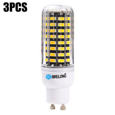 3 x BRELONG 1500Lm GU10 15W SMD5733 80 LED Corn Bulb