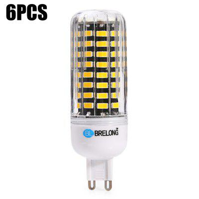 6pcs BRELONG G9 1500Lm 15W SMD5733 80 LED Corn Bulb