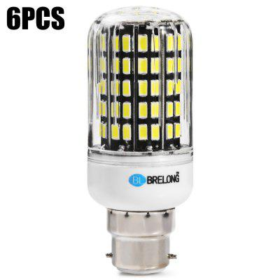 6 x BRELONG B22 1800Lm 18W SMD5733 108 LED Corn Bulb