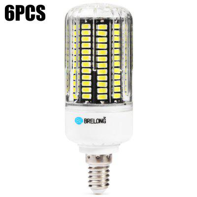 6 x BRELONG E14 2000Lm 20W SMD5733 136 LED Corn Bulb