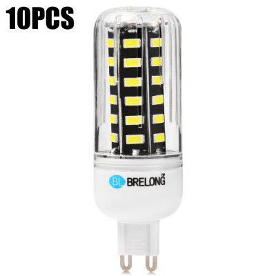 10pcs BRELONG 900Lm G9 9W 42 x SMD 5733 LED Corn Light Bulb
