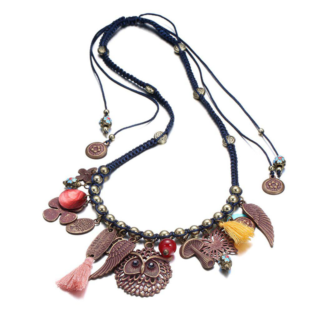 Winter Handmade Necklace with Tassel for Women