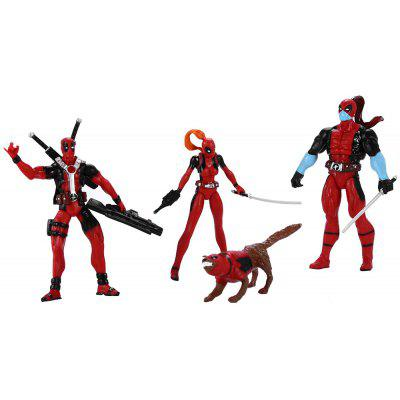 Plastic Static Figure Model Toy - 4Pcs / Set