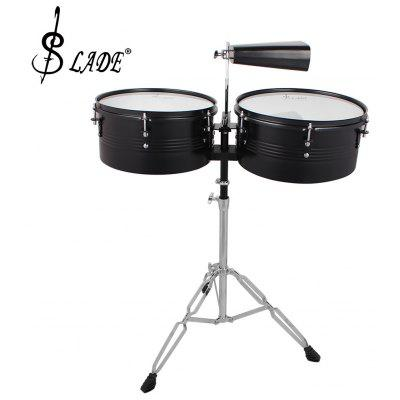 LADE Timbale Cowbell Percussion Musical Instrument with Stand