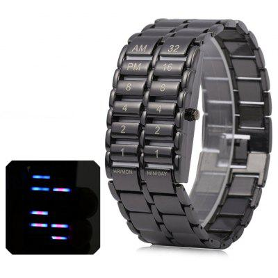Unique Binary LED Watches Digital Display Time Black Stainless Steel