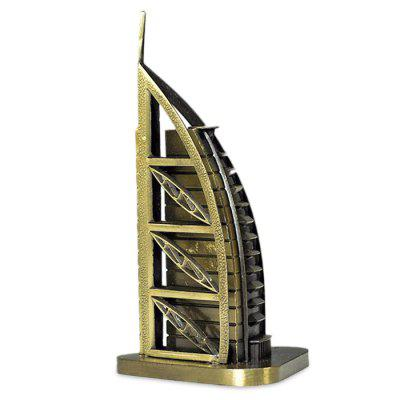 DECAKER De La Tour Hotel Arabia World Famous Landmark Aluminum Alloy Architecture Home Office Decor