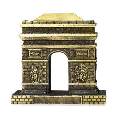 DECAKER Paris Arc de Triomphe World Famous Landmark Aluminum Alloy Architecture Home Office Decor